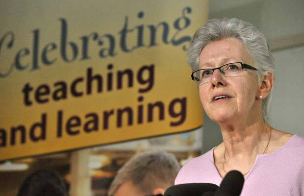 BCTF president Susan Lambert tabled a new bargaining position Tuesday which calls for a 15 per cent pay hike for teachers over three years.