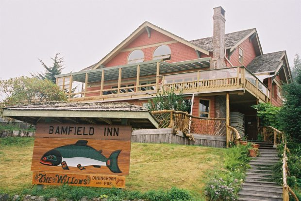 The Bamfield Inn is one of the properties owned by Jack Purdy in the tiny community that is currently closed.