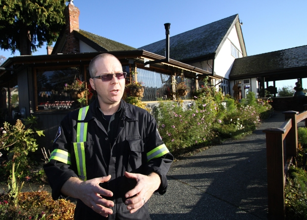 View Royal fire inspector Rob Marshall talks about the fire at the Four Mile Bar and Grill on Nov. 15, 2011.
