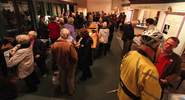 Voters were given the chance to meet Victoria's candidates at a recent meeting at the Belfry Theatre.
