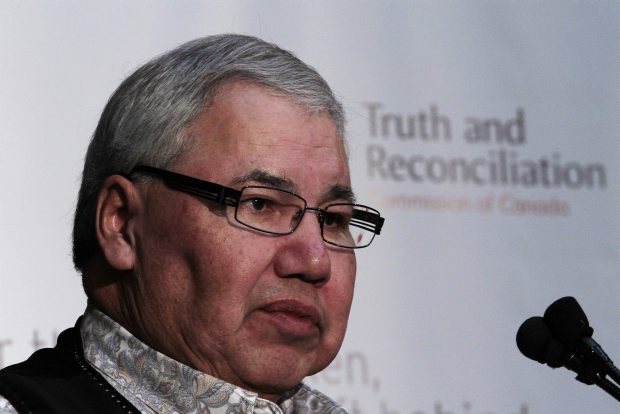 Chairman Justice Murray Sinclair speaks at the Truth and Reconciliation Commission news conference Tuesday.