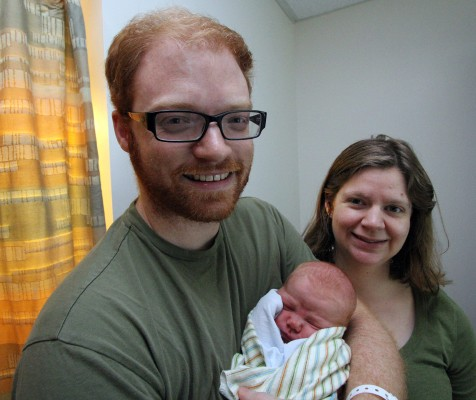 Parents Mark and Kate Haines proudly present William Robert Haines.