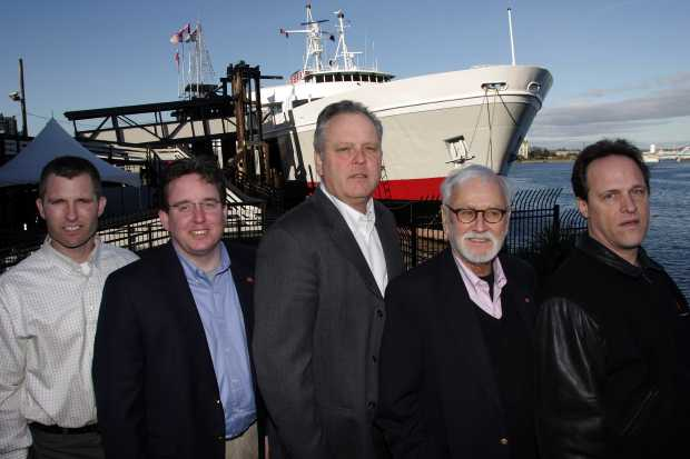 The new Coho ownership group are, from left to right: Rian Anderson, district manager; Ryan Malane, director of marketing; Ryan Burles, president; Capt. John Cox, CEO; and David Booth, senior vice-president of finance.