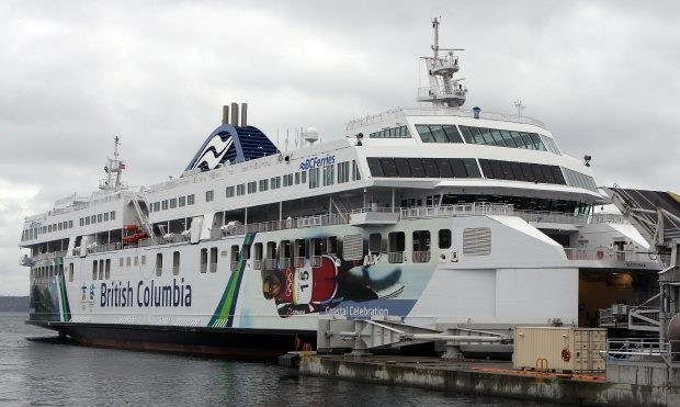 A missing man might have fallen off the Coastal Celebration Sunday during the 11 a.m. sailing from Swartz Bay that arrived in Tsawwassen about 12:40 p.m. This is a file shot for the ferry from November 2008.