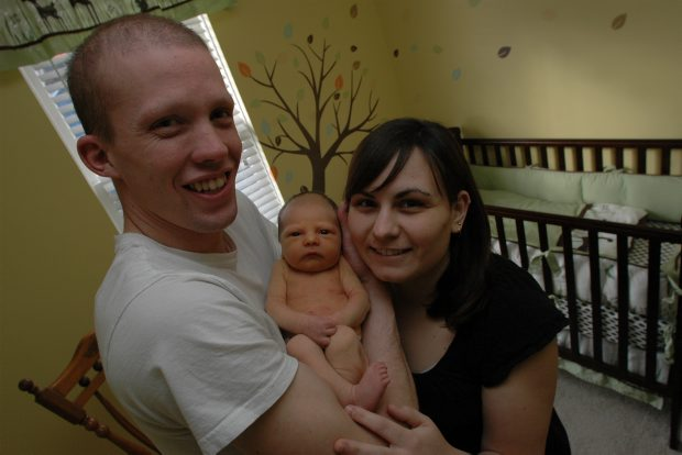 Tony Jeffs with his wife, Kelly, and new son, Owen Micheal Jeffs.
