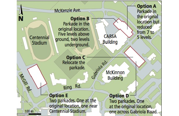 UVic parkade options