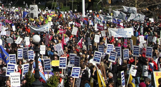 B.C. teachers went on strike for three days last week and rallied at the legislature
