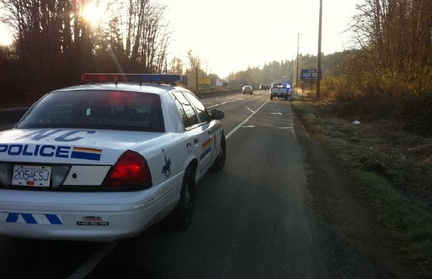 Duncan-North Cowican RCMP and a First Nations community policing unit are engaged in a standoff Sunday morning with a man who may have weapons in his home on the Trans-Canada Highway in Duncan