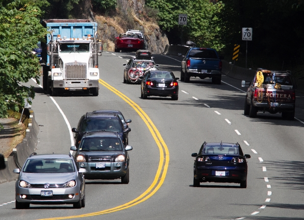 There have been calls for years to install concrete barriers on the Malahat to separate traffic travelling in opposite directions.