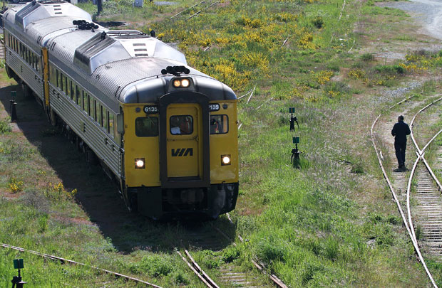Via Rail passenger service on the E&N line has been suspended indefinitely pending necessary repairs.
