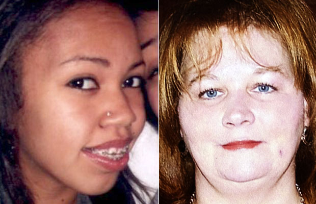 Slaying victims 18-year-old Tyeshia Jones, left, and 42-year-old Karrie Ann Stone of Duncan