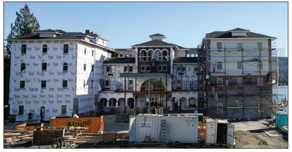 Sooke councillors say they were unaware of a deal with the Prestige Hotel, seen here in 2010 while it was under construction, that saw the resort defer $660,000 in development costs.