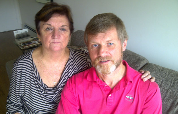 Shirley Spence and Andrew Regan. Regan visits Spence's son everyday but she is not allowed to enter the hospital.