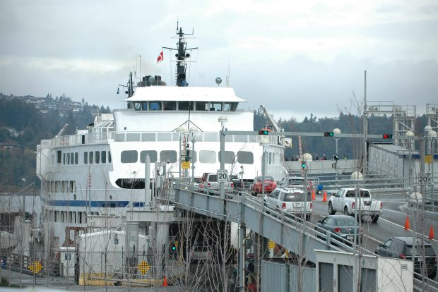 A file photo of Departure Bay ferry terminal from April, 2012