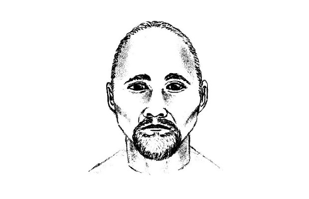 A drawing of the suspect in a May 31 sexual assault against an 18-year-old woman in Sooke.