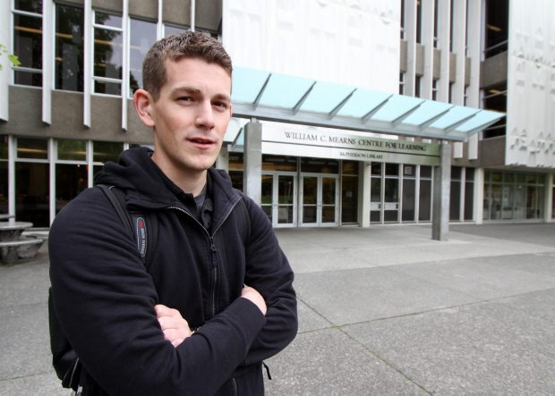 University of Victoria student Daniel Schade is concerned about the cancellation of a military oral history program.