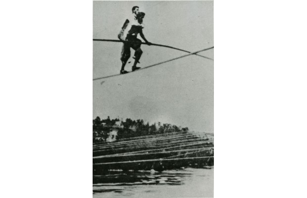 Charles Blondin, born Jean Francois Gravelet and known as Blondin the Great, first crossed the Niagara River on a tightrope in 1859.