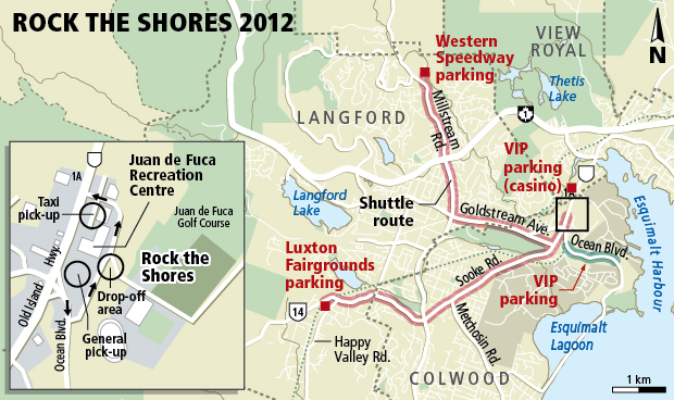 Traffic could be affected at the Rock the Shores concert
