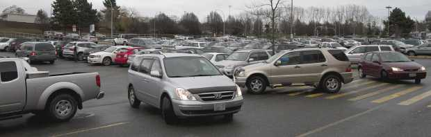 The parking lot at Mayfair mall has recently been a hot spot for vehicle break-ins, Victoria police say.