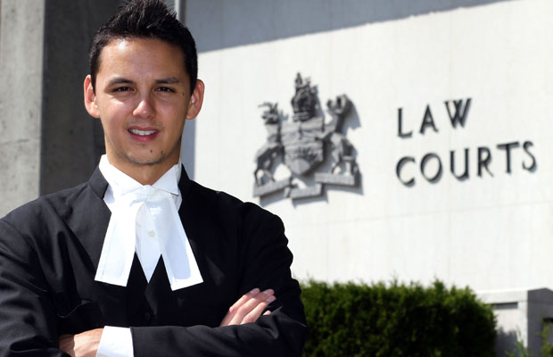 "Robert Clifford, 28, says ""I always feel I am capable of doing whatever I set my mind to."" Now, after a ceremony celebrating his becoming a lawyer, he's intent on helping other young aboriginals."