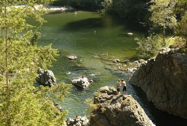 Properties owned by The Land Conservancy of B.C., including the campground adjacent to Sooke Potholes Provincial Park, above, could be sold if TLC can't afford to pay outstanding back taxes.