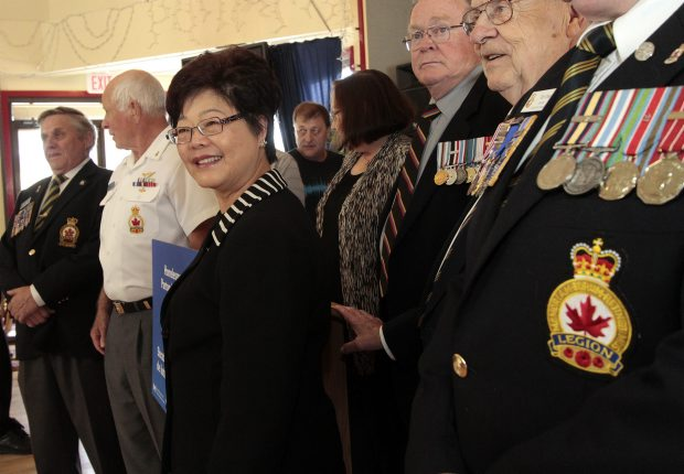 Alice Wong, federal minister of state for seniors, was in Victoria to announce funds for veterans' homelessness projects — including Cockrell House in Colwood — on Tuesday.