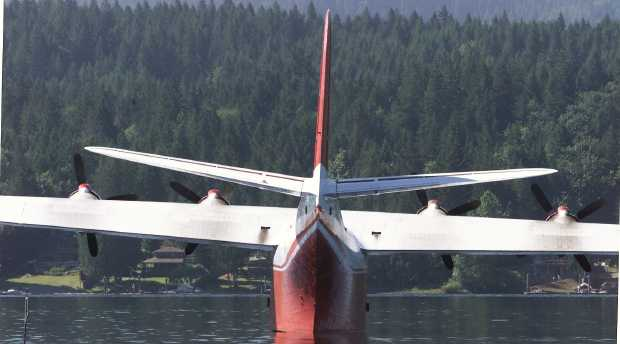 The Martin Mars bomber was suffered vandalism damage over the weekend while moored at Sproat Lake.
