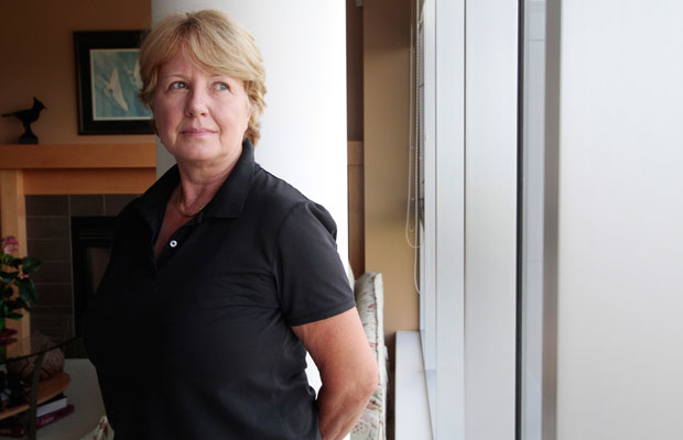 Karen Anema is recovering at her Saanich home after having a partial mastectomy at Vancouver General Hospital.