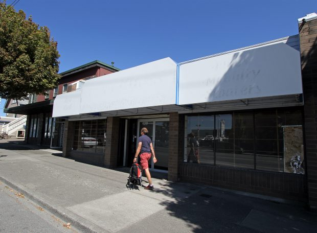 Victoria police say they found a large-scale grow-op in a vacant business on Government Street near Bay Street. The renters installed a white wall to cut the space in half so they could operate in the back and also installed bars on the windows.