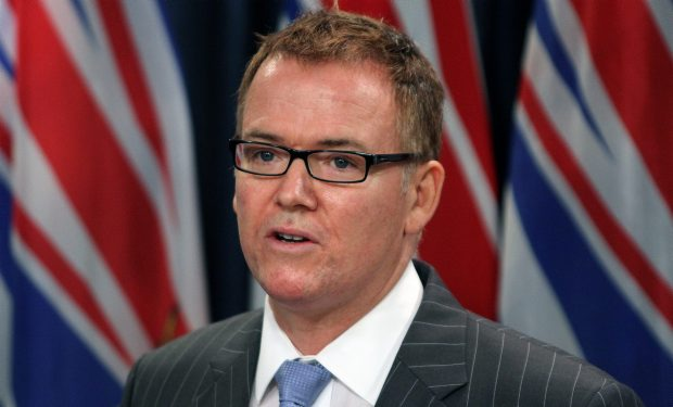 Kevin Falcon has announced that he's resigning as B.C.'s finance minister.